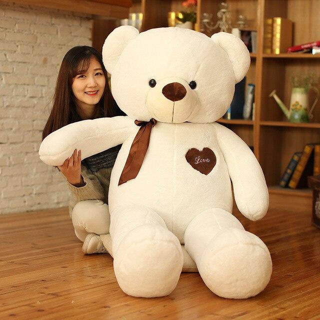 Soft Plush Toys Ribbon Giant Teddy Bear Doll High Quality PP Cotton Hug Kawaii Bear Doll Birthday Gift to the Girl Brinquedos