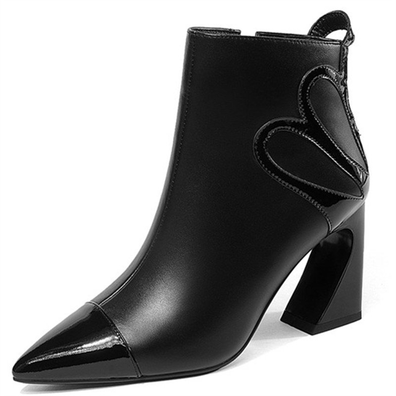 LOVEXSS Woman Autumn Winter Zipper Ankle Boots Fashion Sexy Plus Size 33 40 Martin Boots Black White High Heeled Shoes 2018 lovexss woman genuine leather ankle boots autumn winter high heeled shoes fashion plus size 32 43 black work chelsea boots