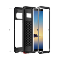 Luxury Doom Armor Heavy Duty Case For Samsung Note 8 5 4 Metal Case Shockproof Cover