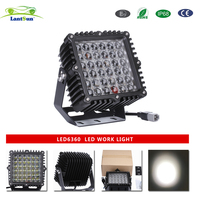1 pc LED6360 IP68 DC10 30V 9inch 360w square offroad driving light for truck tractor for jeep 4X4 auto products Lantsun