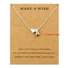 Сердце начальные Подвески ожерелье s персонализированное ожерелье с буквами Имя ювелирные изделия для женщин мужчин аксессуары подруги любовника пара подарок
