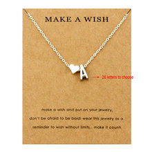 Heart Initial Pendants Necklaces Personalized Letters Necklace Name Jewelry Women Men Accessories Girlfriend Lover Couple Gift(China)
