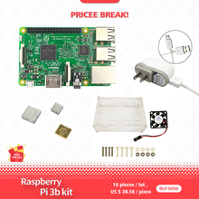 Raspberry Pi 3 Model B kit - pi 3 board / pi 3 case / 5V 2.5A US Power Supply / heat sink raspberry pi 3 model b 3 starter kit case 16 32g sd card fan power adapter hdmi cable heat sink for rpi 3 3b