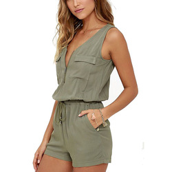Sexy sleeveless bodysuit women jumpsuit shorts romper summer v neck zipper pockets playsuit fashion beach overalls.jpg 250x250