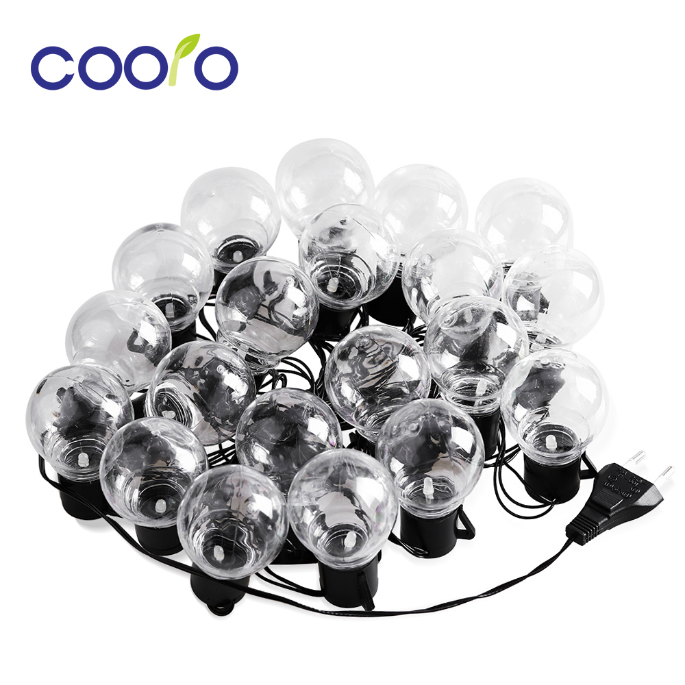 New Year 6M Fairy Garland LED Ball String Lights Waterproof For Christmas Tree Wedding Home Indoor Outdoor Decoration 110/220V  New Year 6M Fairy Garland LED Ball String Lights Waterproof For Christmas Tree Wedding Home Indoor Outdoor Decoration 110/220V