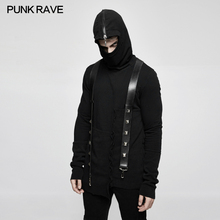 Punk Rave Rock Cotton Men Jacket Hoodie Black Cotton Long Sleeve Gothic Rock Motocycle Top Mens Jackets and Coats Hip Hop Style
