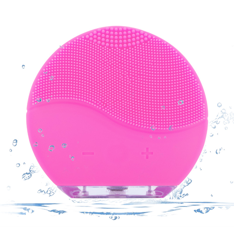 New Waterproof Electric Silicone Facial Cleansing Brush Sonic Vibration Massage USB Charger Deep Pore Ultrasonic Face Cleaner