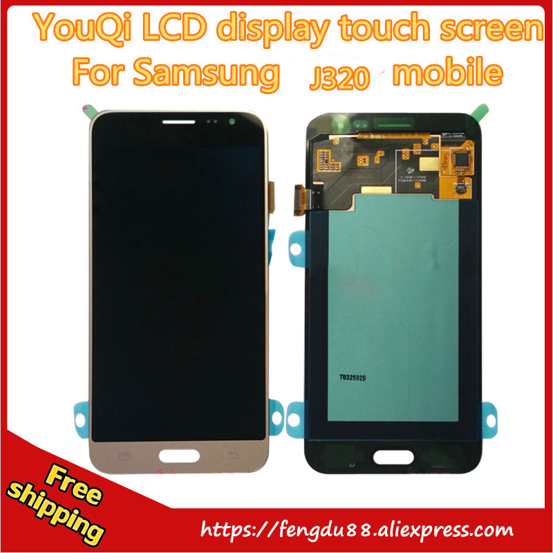 5 pcs For Samsung Galaxy J3 J320A J320F J320M LCD Display Touch Screen with Digitizer Assembly + Repair Tools Free shipping