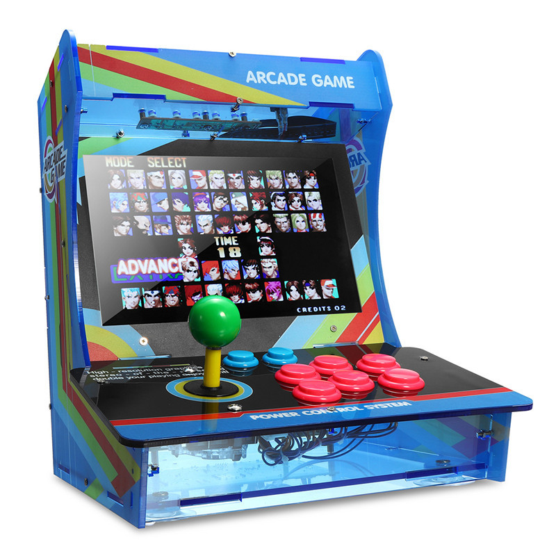 999 Games In 1 Joystick Arcade Game Console Retro Style Mini Classic Arcade Game Machine Support VGA/HDMI/USB For Child Gifts arcade joystick gamepad kit 800 games in 1 video tv jamma 2 joystick vga hidmi metal double stick arcade console with 2players