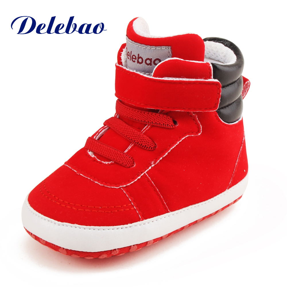 PU Newborn Baby Shoes Moccasins Hook & Loop Solid Spring Autumn Soft Sole First Walkers For 0-18M Baby Boy Girl Shoes