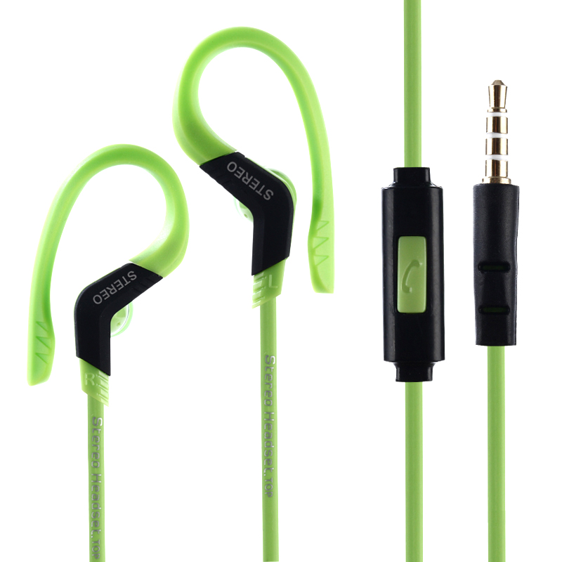 New Sports Ear-Hook Headset Stereo Earphone Super Bass Headphones with microphone for iphone xiaomi MP3 MP4