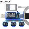 8 en 1 USB comprobador de voltaje de la batería actual Detector de potencia móvil metro del voltaje de corriente USB cargador Doctor del DC voltímetro indicador