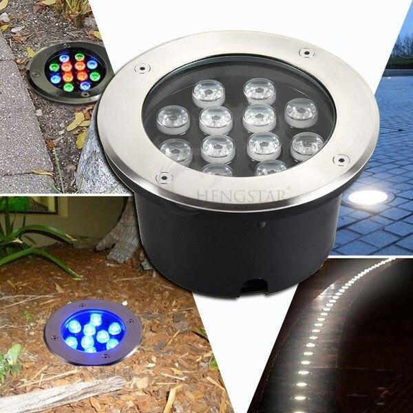 12V/24V 110V 220V IP65 LED Underground Light 12W Buried Recessed Floor Ground Yard Path Landscape Lamp Outdoor Lighting 10PCS