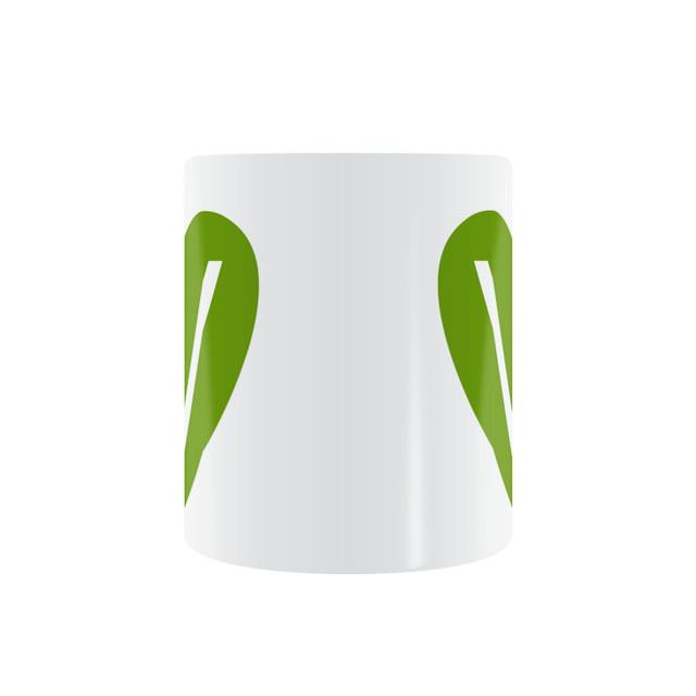 Vegetarian Patterned Ceramic Mug