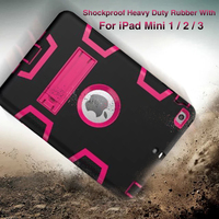 Luxury Heavy Duty Shockproof Hybrid Rubber Rugged Hard Impact Protective Skin Shell Case For IPad Mini
