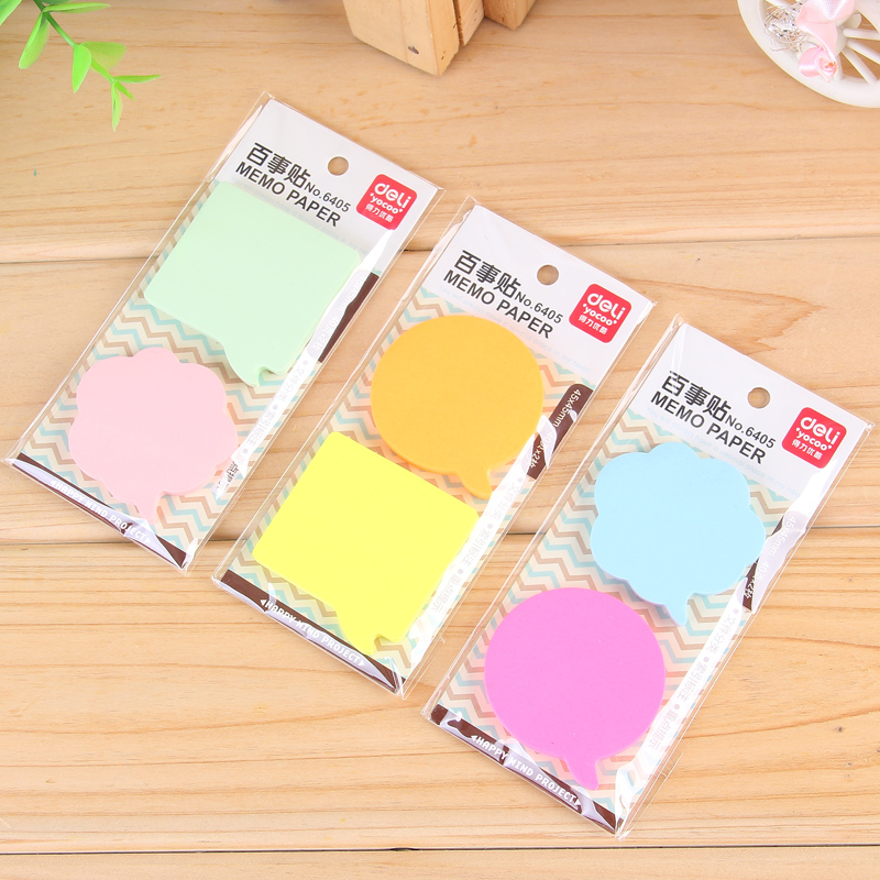 3 Packs Memo Pads Stickers Self-Adhesive Sticky Notes Each Pack Include 2 Pcs 40 Sheets Post It Office And Business Deli 6405