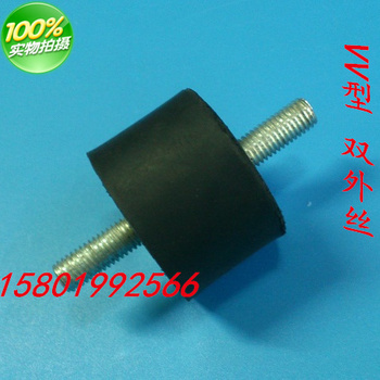 Shock absorber rubber shock absorber rubber shock absorber with double outer screw M16*100*60