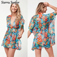 Beach Wear Women S Plus Size Tunic Dress Beachwear Women Summer Sarong New Printed Chiffon With