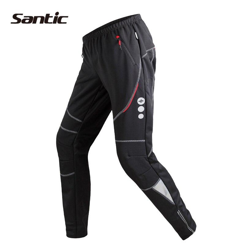 Цена за Santic Велоспорт Зимние Брюки Флис Тепловой Ветрозащитный Дышащий Досуг Брюки MTB Велосипед Брюки Pantalon Ciclismo S XXXL