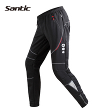 Santic Winter Cycling Pants Fleece Thermal Windproof Breathable Leisure Trousers MTB Bicycle Bike Pants Pantalon Ciclismo S-XXXL