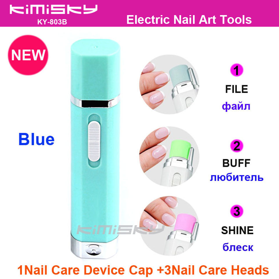 2016 New Blue Electric Nail care tool nail art tools pedicure herramientas same scholls function 3