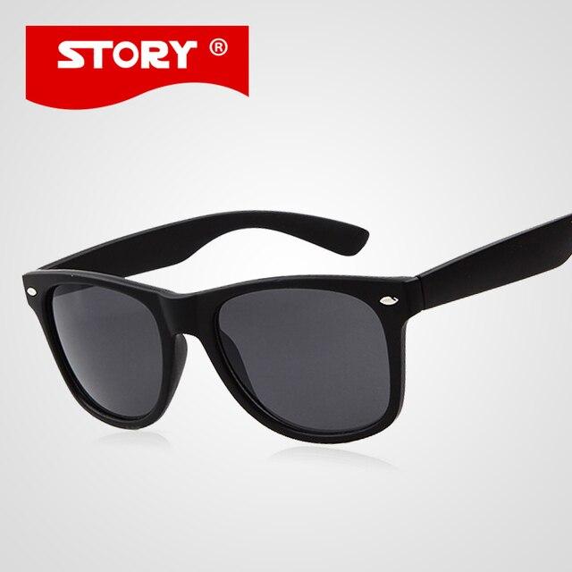 HISTOIRE De Mode Unisexe Vintage Miroir Objectif lunettes de soleil  Classique Marque Rivets En Métal Conception b9e4e5c29aa4
