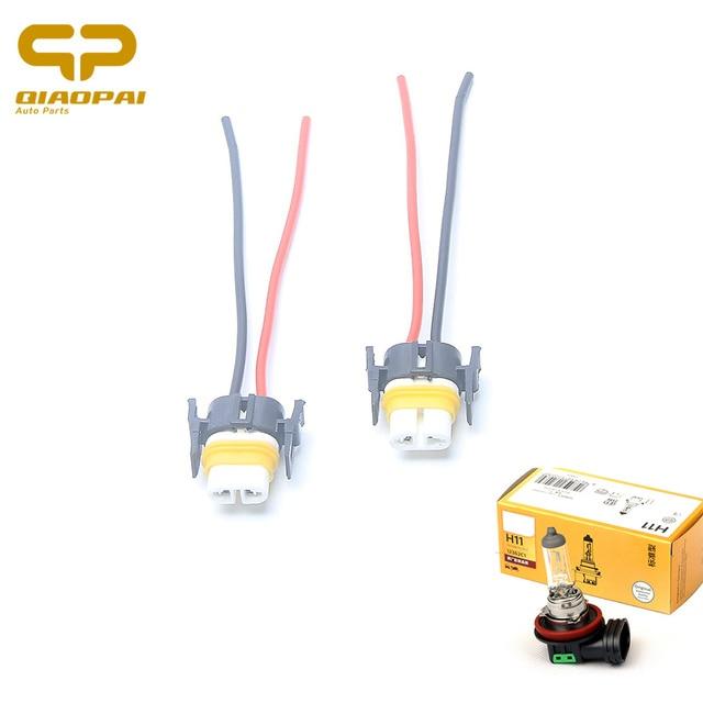 Astounding 2Pcs Ceramic H11 Socket Plug Harness Automotive Wire Connector Car Wiring 101 Taclepimsautoservicenl
