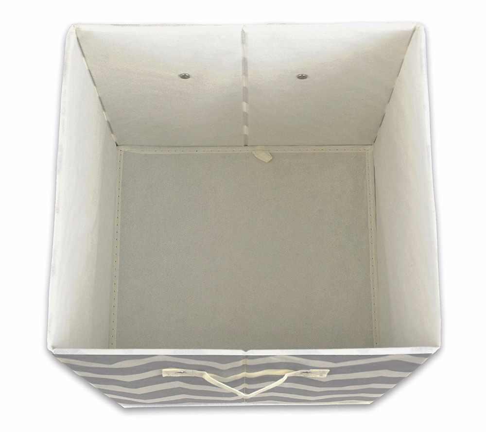 Nova dobrável Não-tecido de roupas de tecido brinquedos do organizador caixa de armazenamento para as meias sutiã cueca livros para casa caixas de armazenamento de Lavanderia balde