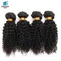 Afro Kinky Вьющиеся Волосы 4 Bundle Предложения Тугой Завиток Бразильский Странный вьющиеся Девственница Волосы Короткие Боб Кудрявые Человеческих Волос Поцелуй Волосы Мода