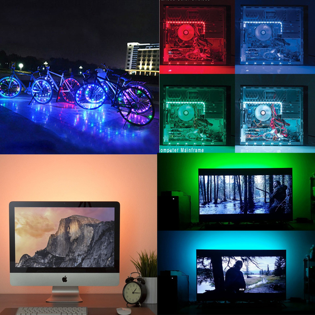DC 5V USB wifi 24 Key RGB Light with SMD 5050 Flexible Light LED Backlight Background Light TV Lighting 50CM 1M 2M 3M 4M 5M