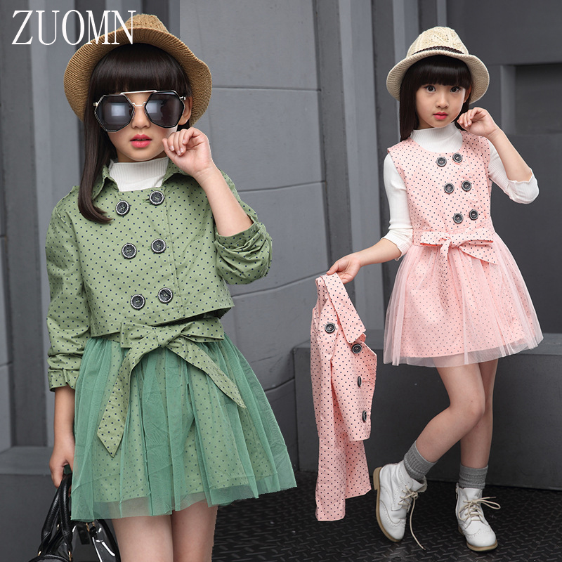 2017 Korean Girls Knit Dress Two-piece Suit Children Kids Sets Clothing Set Retail Dress Two-PieceSuits Baby Girl Clothes YL467 girls dress long sleeved knit cardigan sweater suit 2016 children clothing set two piece skirt autumn girls clothes tops