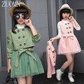 2017 niñas de corea del knit dress traje de dos piezas niños niños establece que arropan al por menor dress dos piecesuits bebé ropa de la muchacha yl467