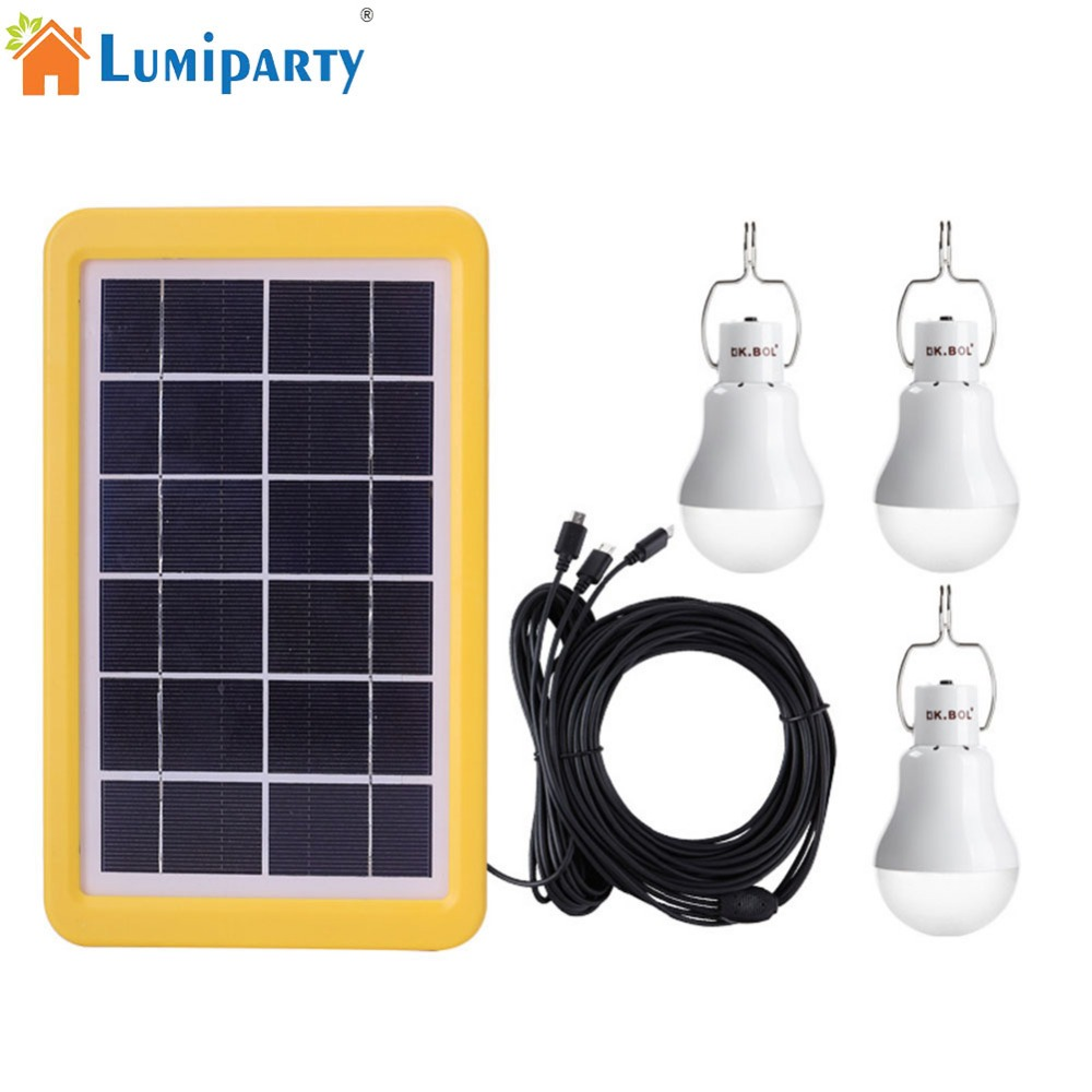 LumiParty LED Solar-Powered Bulb Light Control Outdoor Camping Bulb Tent Lamp Home Emergency Light mising remote control solar powered 30 led solar light bulb floodlight outdoor garden light emergency camping lamp