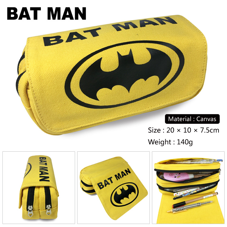 OHCOMICS Hot For DC Comics Batman Superman Yellow Pencil Bag Pencil Case Box For Study School Learning Appliance Accesoory
