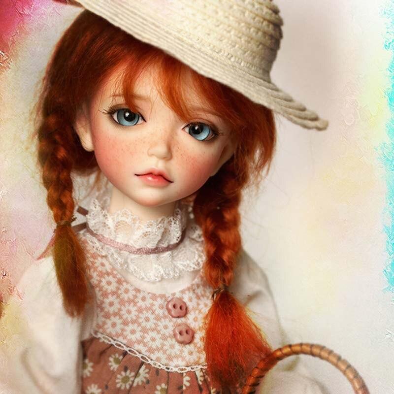 1/6 muñeca BJD Lonnie de moda con Fleckles encantadora muñeca para regalo de cumpleaños de niña bebé envío gratis-in Muñecas from Juguetes y pasatiempos    2