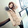 2016 New Hot Sale Fashion Women Winter Down Coats Jackets Plus Size Cotton Wadded Warm Fur Collar Hooded Thick Female B726