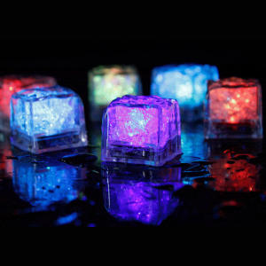 12Pcs LED Glowing Light Up Cubes Flashing Party Decoration
