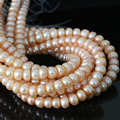 Hot sale freshwater orange natural pearl abacus beads 9-10mm fit nacklace bracelet weddings beauty jewelry making 15inch B1385