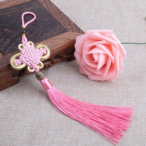 Image 4 - Tassel Craft Knot Car Ornaments Tassel Pendant Crafts Auto Rearview Mirror Ornament Hanging Car Decoration Pendant