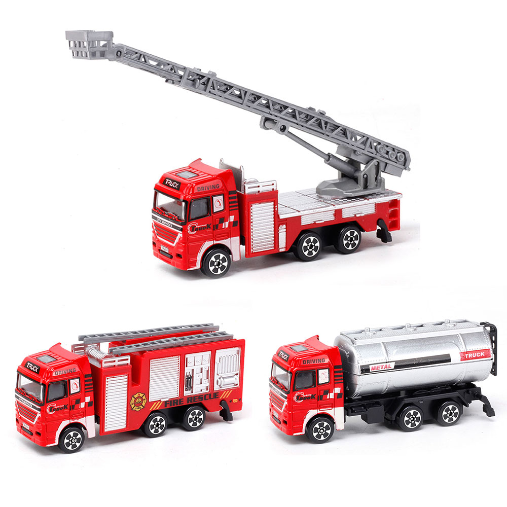 1:64 Scale Alloy Fire Fighting Truck Fire Engine Car Model Children Toy Gift