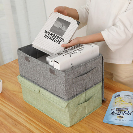 Coton et lin lavé grande boîte de rangement de vêtements tissu pliant vêtements boîte de rangement armoire boîte de rangement