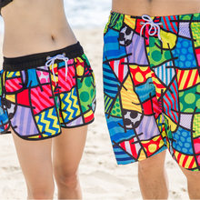 Quick Dry Swim Shorts Men Beach Board Shorts For Women Female Swimwear Male Bermuda de Boardshorts Couples Surfing Swim Short(China)
