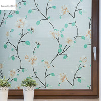 Static Cling Glueless window glass sticker Opaque frosted 3D stereo window paper Glass film Window decoration sticker