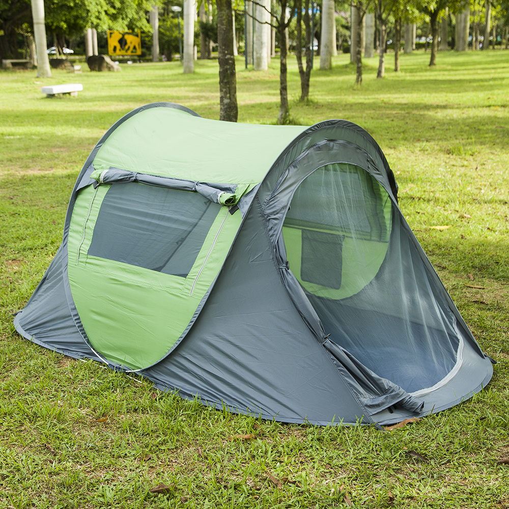 Instant Pop Up 3-4 Person Tent,Setup Fast Outdoor automatic tents Portable Carrying waterproof tent shengyuan outdoor water resistant automatic instant setup two doors 3 4 person camping tent with canopy
