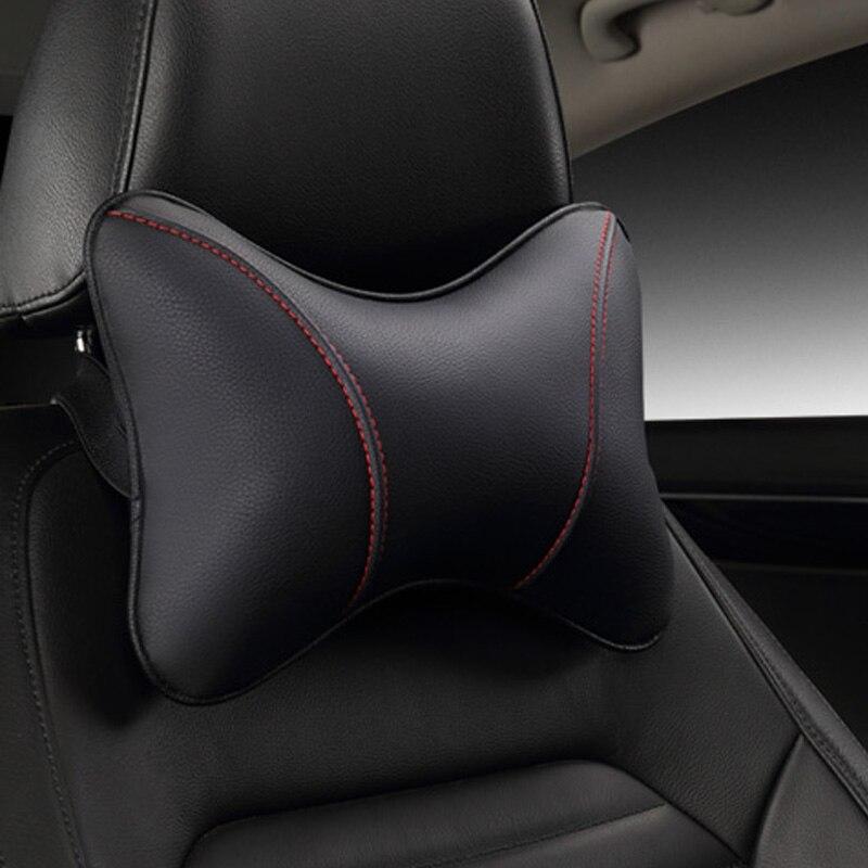 2017 brand new pu en cuir voiture appui-tête oreiller universal confortable cou oreillers fit pour la plupart des voitures qualité garantie