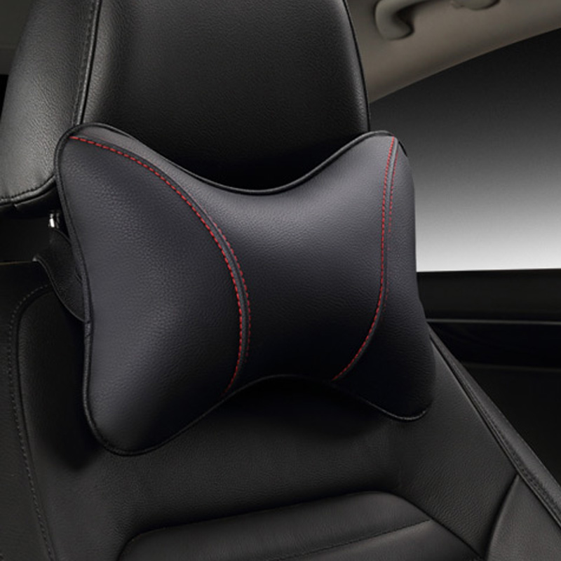 2017 brand new pu leather car headrest pillow universal comfortable neck pillows fit for most cars quality guarantee