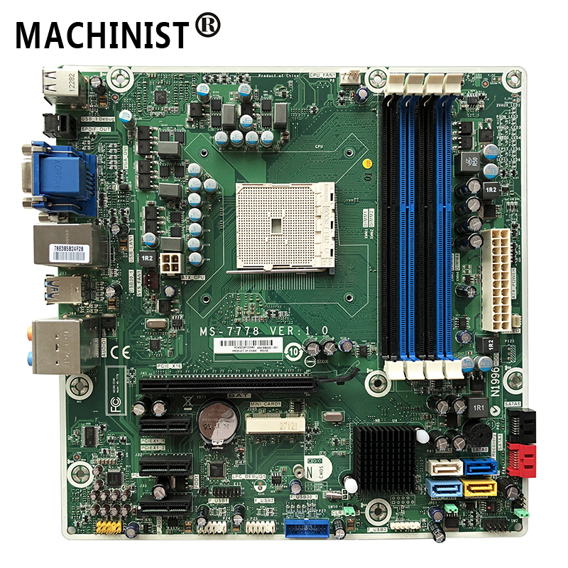 MS 7778 Original For HP pavilion 5000 A75 desktop motherboard FM2 DDR3 696333 001 700846 001