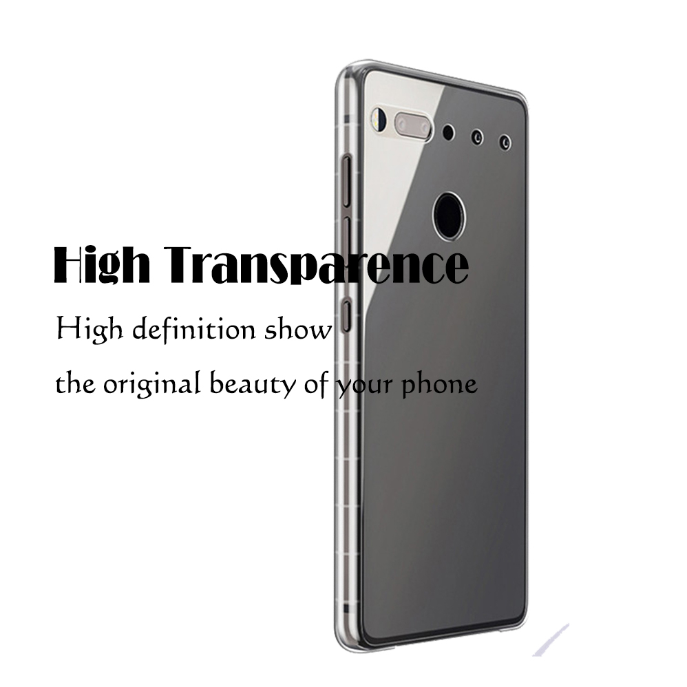 Transparent Clear Case Soft TPU Silicone Back Cover Case For Essential Phone PH1 PH 1 Shockproof Cases for essential Cover in Fitted Cases from Cellphones Telecommunications