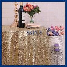 SQ025B viele farben erhältlich perlen runde glitter licht gold pailletten pailletten tischtuch