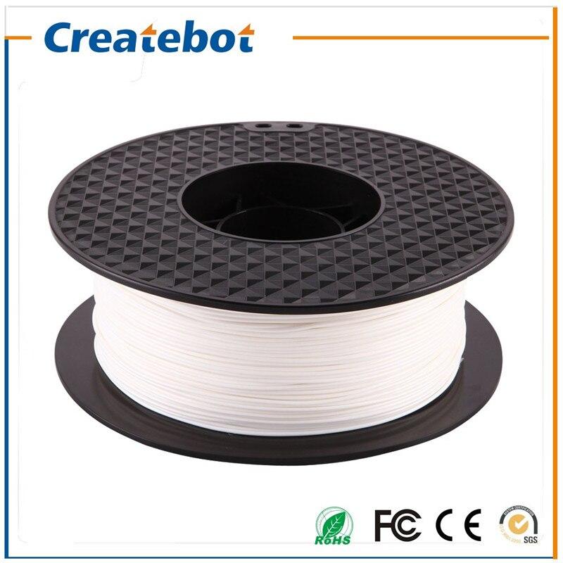 Prix pour Blanc Createbot PLA Filament 1.75mm 1 kg une Bobine pour 3D Impression Abordable Prix PLA Filament